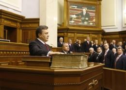 Janukovic in Parlamento