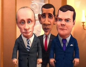 Putin, Obama e Medvedev
