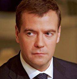 Il presidente Medvedev
