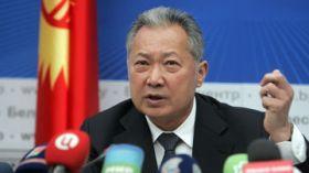 Bakijev in conferenza stampa