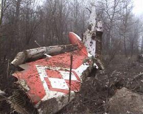 I rottami dell'aereo precipitato