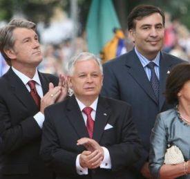 Kaczynski tra Jushenko e Saahashvili