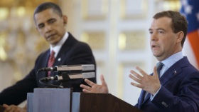 I due presidenti durante la Conferenza stampa