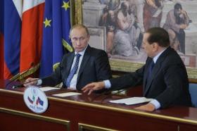 Putin e Berlusconi a Milano
