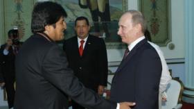 Putin con Evo Morales