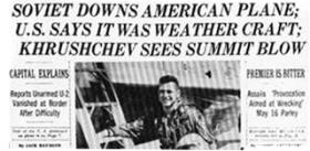"""USA-URSS: cinquant'anni fa scoppiava la """"Crisi dell'U-2"""""""