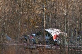 I rottami del Tupolev 154
