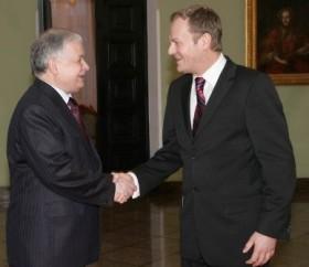 Lech Kaczynski e Donald Tusk