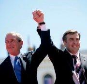 Mikheil Saakashvili con George W. Bush