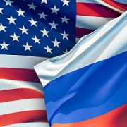 flags USA RUSSIA