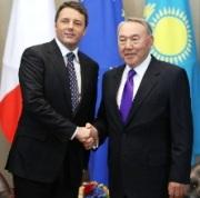 Renzi e Nazarbaev (Foto Kaziform)