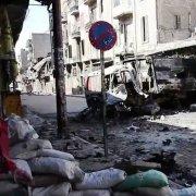 Una strada di Aleppo
