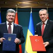 Poroshenko con Erdogan (Facebook - Presidency of the Republic of Turkey))