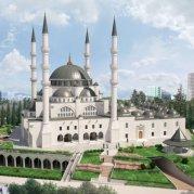 Il rendering della nuova moschea di Tirana (fonte: Twitter)